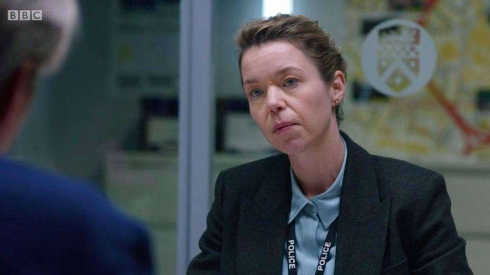 <p>Patricia Carmichael aka Monday personified is played by Anna Maxwell Martin. </p>