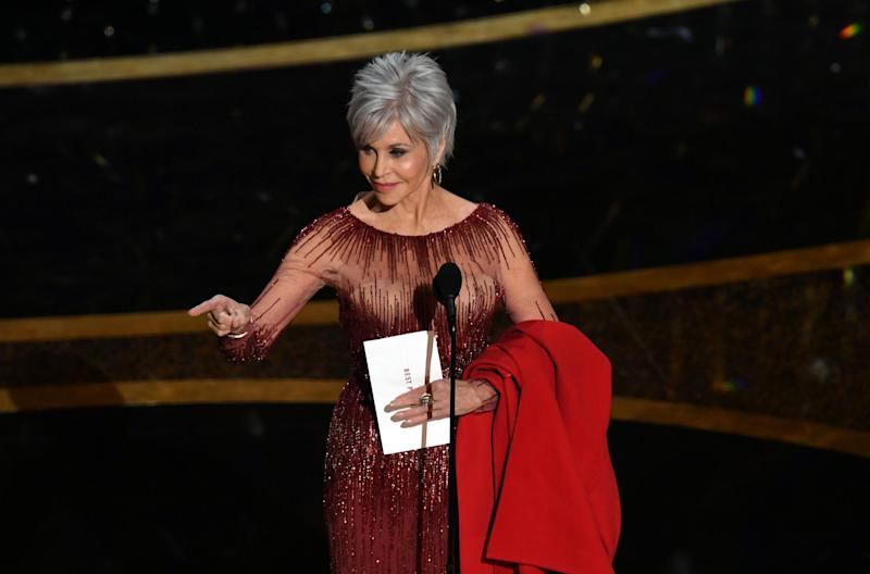 Jane Fonda on stage at the 2020 Oscars: Photo by Kevin Winter/Getty Images