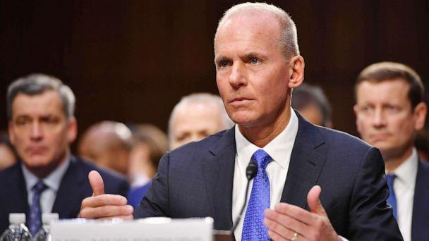 PHOTO: Dennis Muilenburg testifies before the Senate Committee on Commerce, Science, and Transportation on Aviation Safety and the Future of Boeings 737 MAX in the Hart Senate Office Building on Capitol Hill in Washington, D.C., Oct. 29, 2019. (Mandel Ngan/AFP via Getty Images)