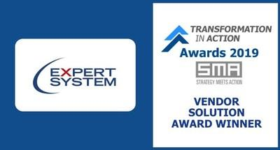 """Expert System Wins 2019 Strategy Meets Action """"Transformation in Action"""" Insurance Solutions Provider Award"""