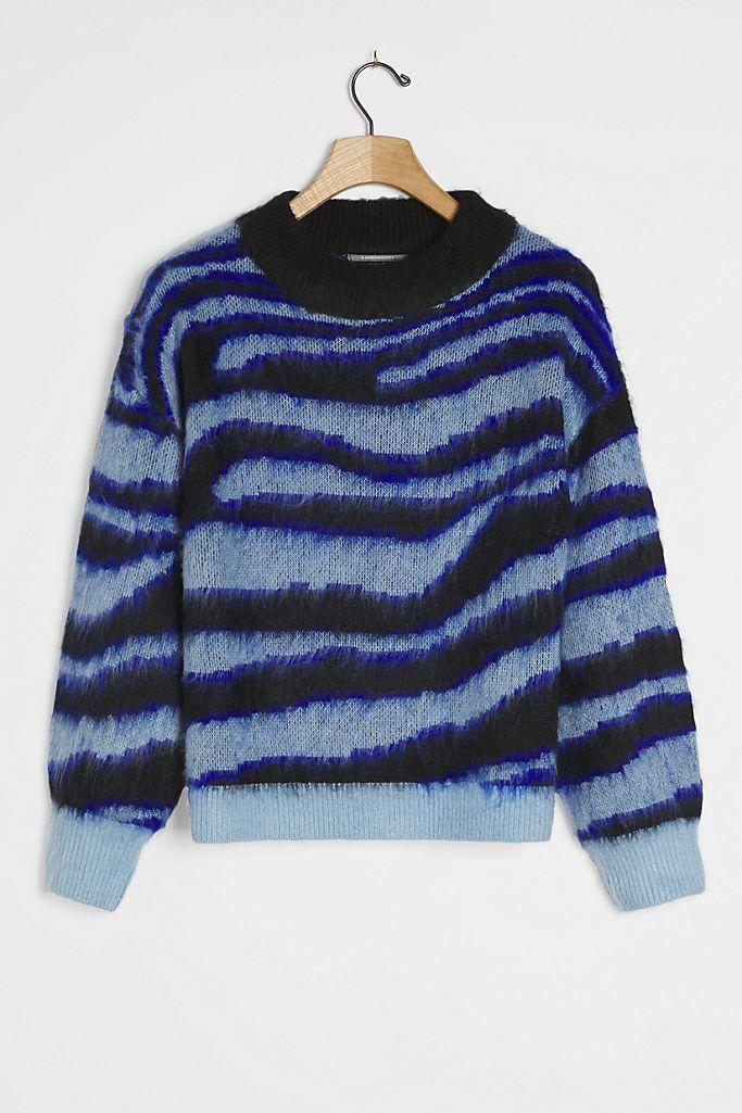 """<h2>Salma Striped Eyelash Sweater<br></h2><br>A brushed, hairy finish makes this artful, size-inclusive sweater look like it was finished with the stroke of a watercolor brush.<br><br><strong>Anthropologie</strong> Salma Striped Eyelash Sweater, $, available at <a href=""""https://go.skimresources.com/?id=30283X879131&url=https%3A%2F%2Fwww.anthropologie.com%2Fshop%2Fsalma-striped-eyelash-sweater%3Fcategory%3Dtops-sweaters%26color%3D049%26type%3DPLUS%26quantity%3D1"""" rel=""""nofollow noopener"""" target=""""_blank"""" data-ylk=""""slk:Anthropologie"""" class=""""link rapid-noclick-resp"""">Anthropologie</a>"""