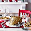 """<p>A simple seasoned butter is all this turkey crown needs to make a spectacular centrepiece for your feast.</p><p><strong>Recipe: <a href=""""https://www.goodhousekeeping.com/uk/christmas/christmas-recipes/a34795892/butter-basted-turkey-crown-simple-gravy/"""" rel=""""nofollow noopener"""" target=""""_blank"""" data-ylk=""""slk:Butter-Basted Turkey Crown"""" class=""""link rapid-noclick-resp"""">Butter-Basted Turkey Crown</a></strong></p>"""