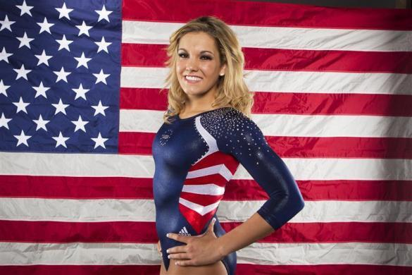 Trampoline gymnast Dakota Earnest poses for a portrait during the 2012 U.S. Olympic Team Media Summit in Dallas, May 15, 2012.