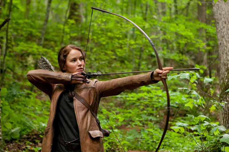 Jennifer Lawrence as Katniss Everdeen in the first <i>Hunger Games</i> film, released in 2012. (Lionsgate)