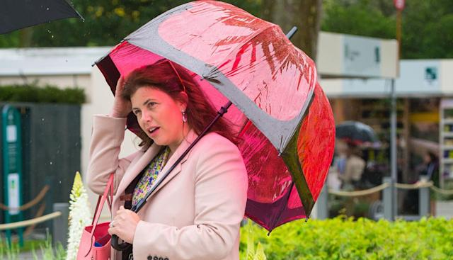 Kirstie Allsopp has decamped with her family to her second home in Devon. (PA)