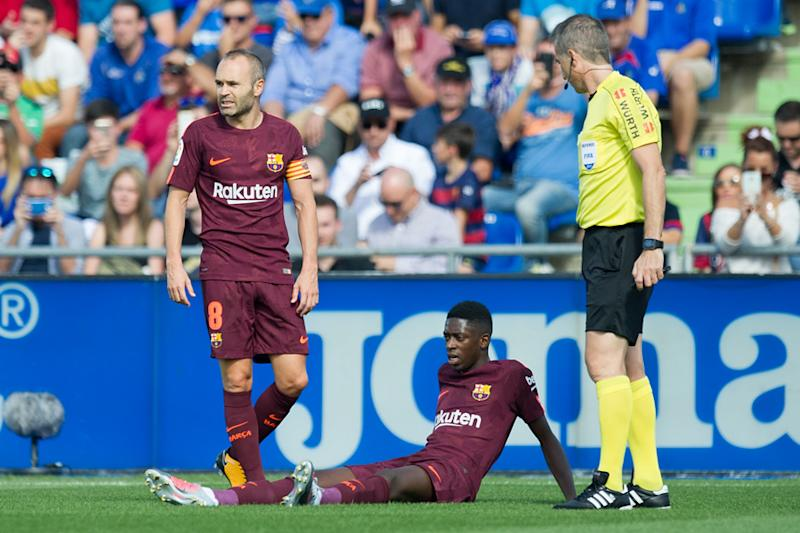 Barcelona forward Ousmane Dembele hints at early recovery after surgery