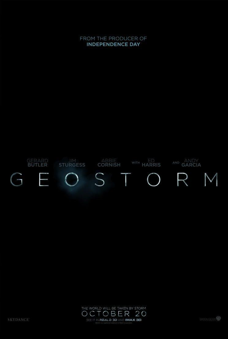 The 'Geostorm' poster
