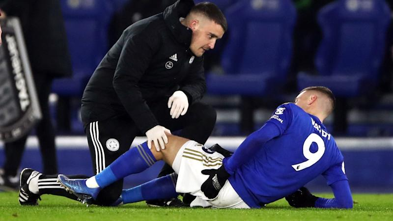 Jamie Vardy feeling 'much better' after glute injury, says Brendan Rodgers