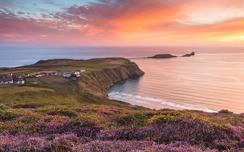 Gower's Rhossili beach was ranked the best in Britain in 2014 and the ninth best in the world - Alamy