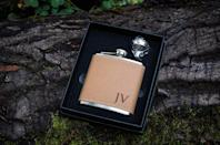 <p>Give him something special like <span>The Personalized Gift Company Monogrammed Flask</span> ($24).</p>