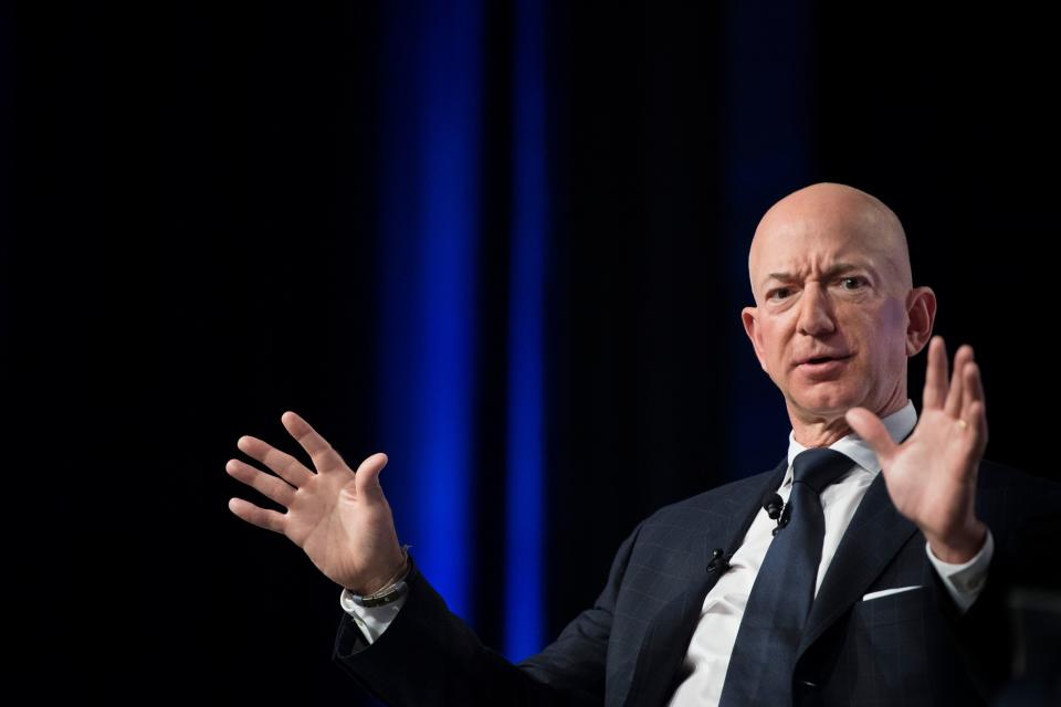 Jeff Bezos, CEO and founder of Amazon, is the world's richest person. If he were to die, Washington state would collect a windfall. (JIM WATSON/AFP/Getty Images)