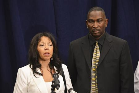 In a post-verdict press conference, Jordan Davis' parents, Lucia McBath and Ronald Davis speak to the media in Jacksonville
