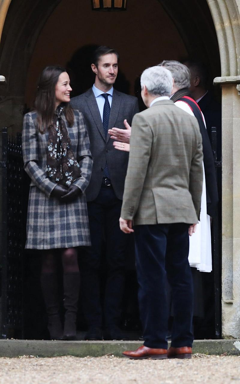 Miss Middleton, Mr Matthews and Miss Middleton's father Michael Middleton leave St Mark's Church, Englefield on Christmas Day 2016. - Credit: Andrew Matthews - WPA Pool/Getty Images