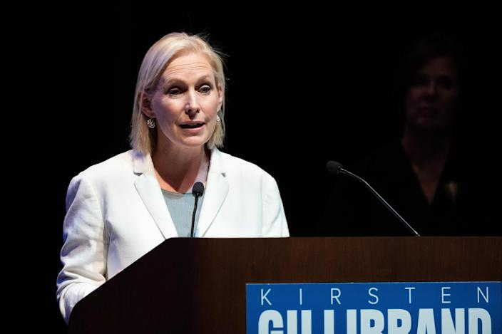 Sen. Kirsten Gillibrand (D-N.Y.) endorsed four of the anti-IDC challengers running for the New York State Senate. (SOPA Images via Getty Images)
