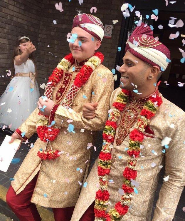 Jahed Choudhury and Sean Rogan were married this week and have been receiving both support and threats since their story has come out. (Photo: Facebook)