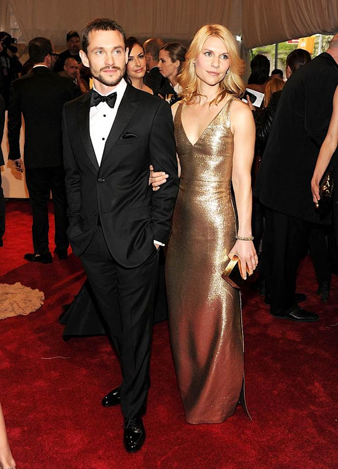 """Claire Danes' Calvin Klein dress was simple yet stunning. Also lookin' good ... her hot hubby, Hugh Dancy. Larry Busacca/<a href=""""http://www.gettyimages.com/"""" target=""""new"""">GettyImages.com</a> - May 2, 2011"""