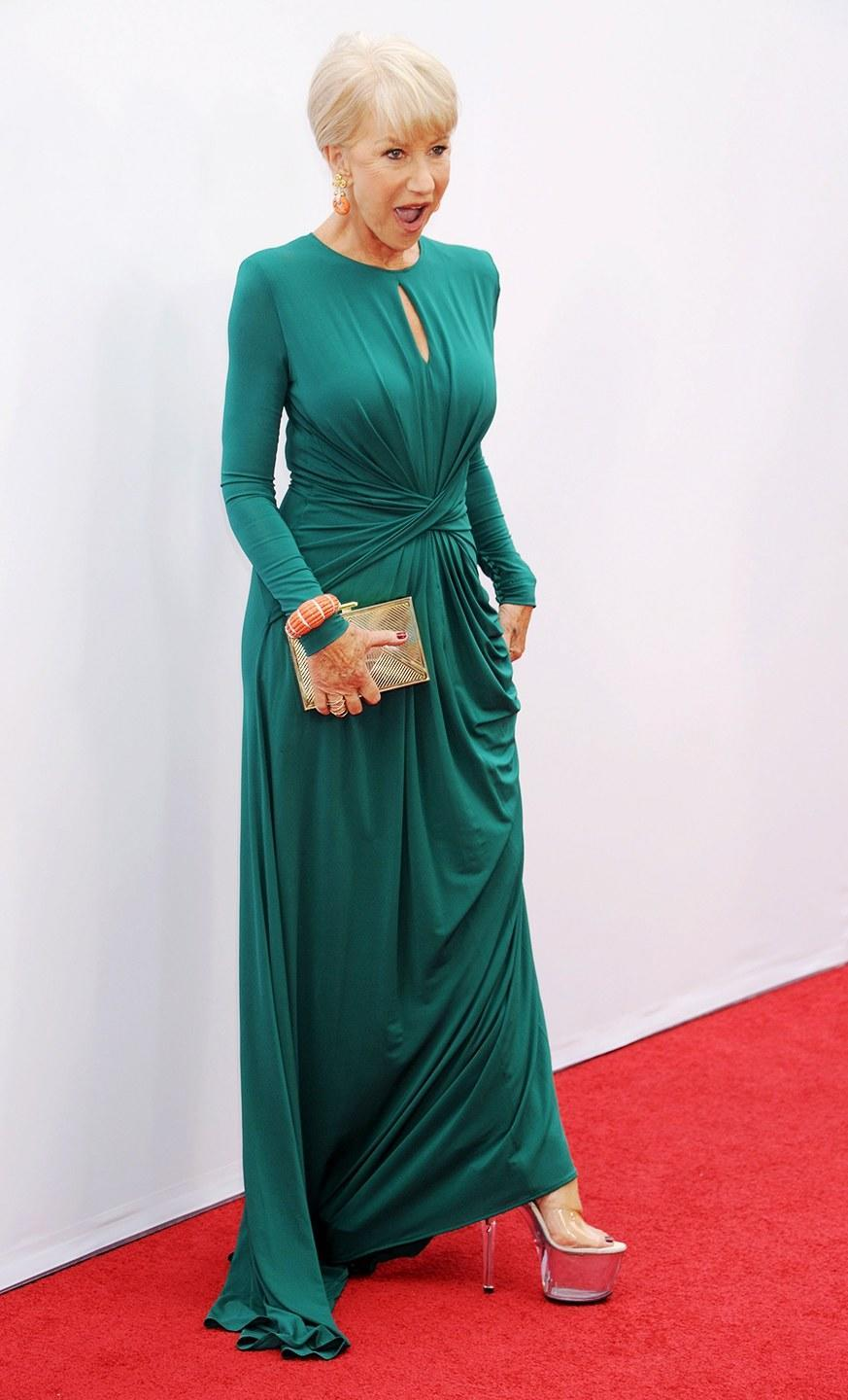 <p>At the Los Angeles premiere of <em>Red 2</em>.</p>