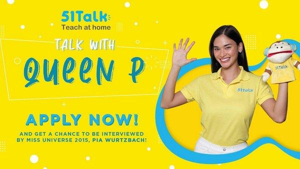 Miss Universe 2015 Pia Wurtzbach, during a livestream show, announced to her millions of fans her new role as 51Talk's Philippine brand ambassador.