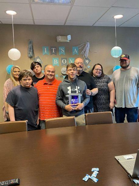 PHOTO: Chad and Paul Beanblossom of Pigeon Forge, Tennessee, adopted their son Michael over a Zoom call as court proceedings have come to a halt amid the coronavirus pandemic.  (Beanblossom Family)