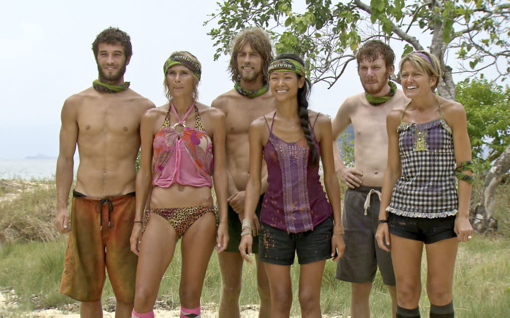 """Don't Say Anything About My Mom"" - The remaining Survivors anxiously await their next challenge during the thirteenth episode of ""Survivor: Caramoan - Fans vs. Favorites."""