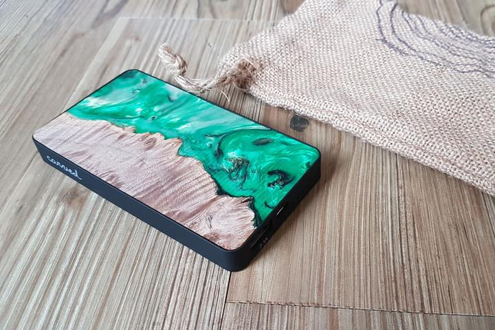Carved Wood Power Bank
