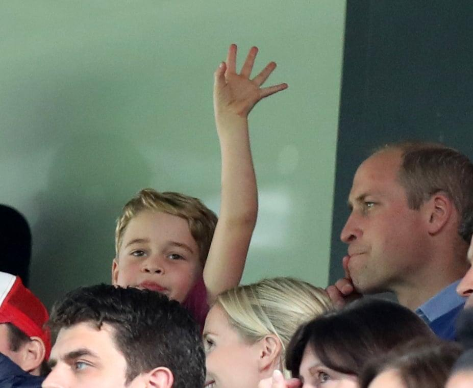Prince George Ecstatic After Seeing His Favorite Team Score
