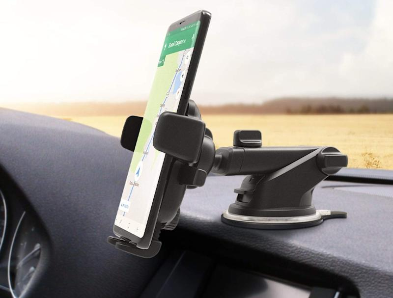 This phone holder has a 4.1 out of five-star rating with over 6,400 reviews. (Photo: Amazon)