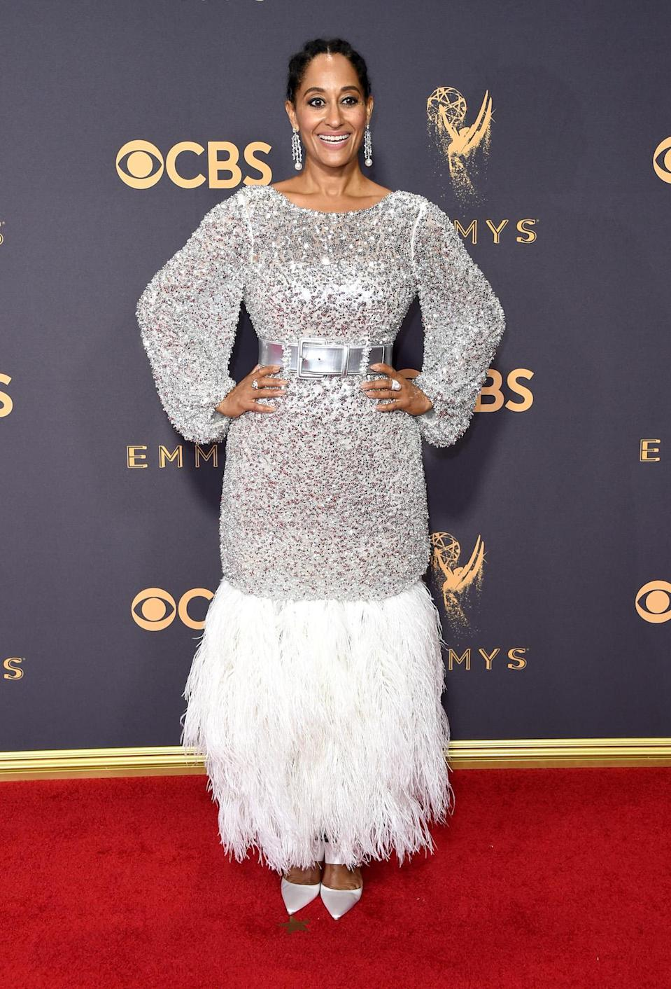 <p>Tracee Ellis Ross attends the 69th Primetime Emmy Awards on Sept. 17, 2017.<br> (Photo: Getty Images) </p>