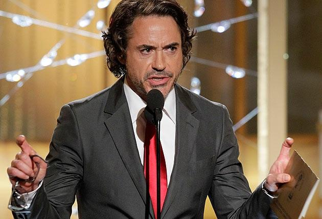 Robert Downey Jr. at the Golden Globes