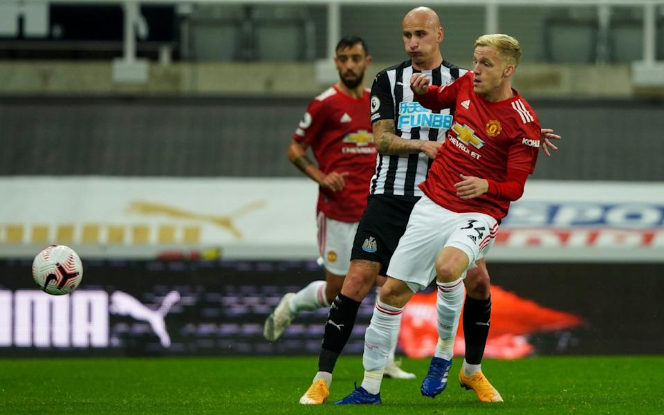 Van de Beek looked full of vest and ideas when he was allowed on the pitch during Manchester United's 4-1 win at Newcastle