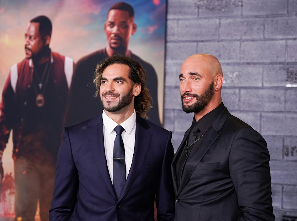 """HOLLYWOOD, CALIFORNIA - JANUARY 14:  Directors Adil El Arbi and Bilall Fallah attend the World Premiere of """"Bad Boys for Life"""" at TCL Chinese Theatre on January 14, 2020 in Hollywood, California. (Photo by Jemal Countess/FilmMagic)"""
