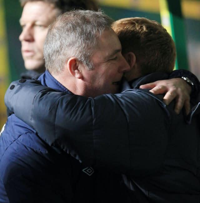 McCoist congratulated Celtic manager Neil Lennon and his squad (PA)
