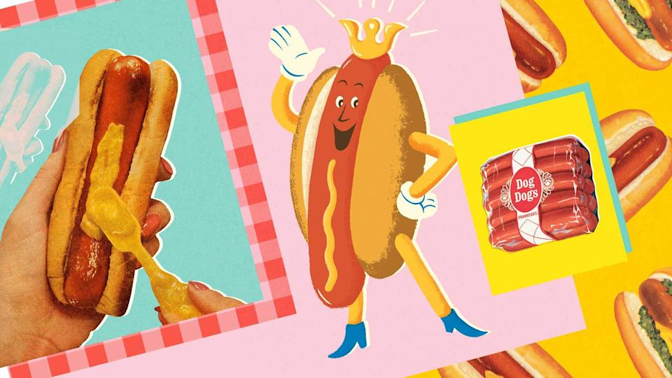 Hot dogs have long been an American staple. Now, they've also fed the nation through the coronavirus pandemic. (Collage: Quinn Lemmers for Yahoo Life/Getty Images)Collage: Quinn Lemmers for Yahoo Life/Getty Images