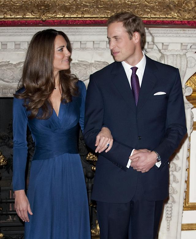 Prince William and Kate Middleton gave their first interview as an engaged couple in 2010. (Photo: Getty Images)