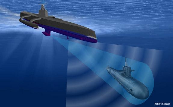 Watch a Futuristic Robot Ship Track Enemy Submarines