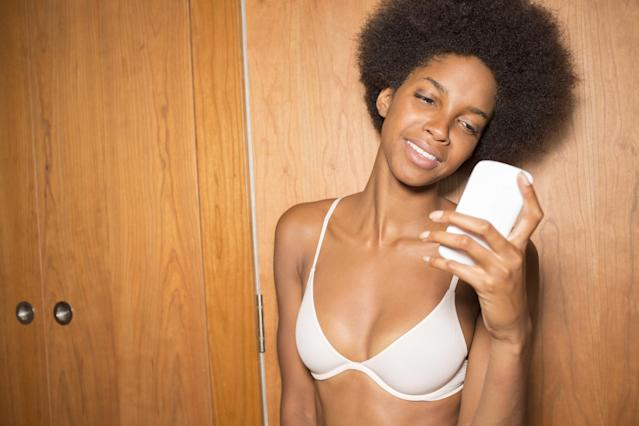 Your iPhone is saving photos with your bra in them to an album called 'Brassiere.' (Photo: Getty Images)