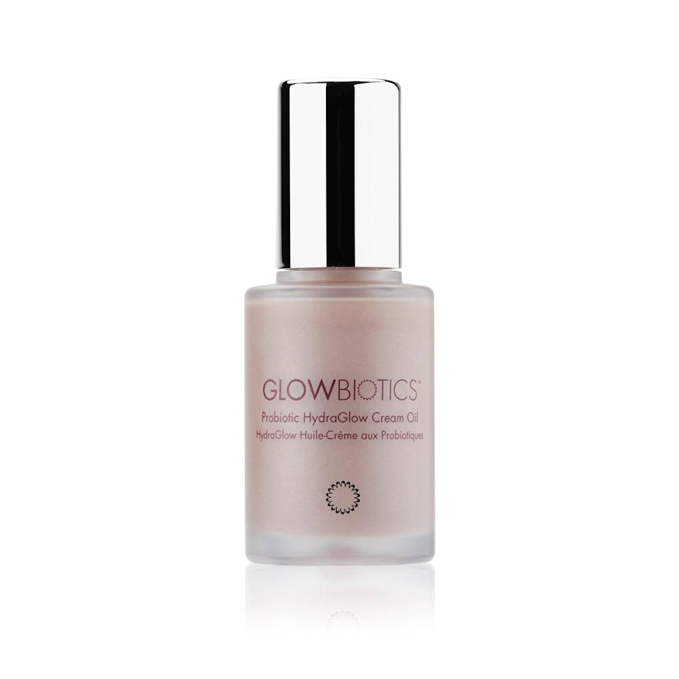 """<p><strong>Best for:</strong> Dull, sun-damaged skin </p> <p><strong>Bugs on board:</strong> Lactococcus ferment lysate</p> <p><strong>Bowe's take:</strong> """"Here, again, in this light-reflective oil, we see derivatives of bacterial cells, not live cultures. The company did a type of test called <a href=""""https://www.glowbiotics.com/pages/science"""" rel=""""nofollow noopener"""" target=""""_blank"""" data-ylk=""""slk:DNA microarray analysis"""" class=""""link rapid-noclick-resp"""">DNA microarray analysis</a>, which is a high-tech way of determining which genes are turned on and off by the lysate. Interestingly, their probiotic technology turned off MMP enzymes, which break down skin-plumping collagen, as well as chemical messengers that increase inflammation in the skin, which means it has real wrinkle-fighting prowess. It also accelerated the skin's renewal process, coaxing fresh cells to the surface, and building a thicker epidermis. As a nice bonus, their lysate spurred the release of a molecule called beta-defensin, which boosts the skin's immunity, protecting it from harmful bugs.""""</p> <p><strong>$59</strong> (<a href=""""https://shop-links.co/1717548666900913087"""" rel=""""nofollow noopener"""" target=""""_blank"""" data-ylk=""""slk:Shop N"""" class=""""link rapid-noclick-resp"""">Shop N</a><a href=""""https://shop-links.co/1718847486117191664"""" rel=""""nofollow noopener"""" target=""""_blank"""" data-ylk=""""slk:ow"""" class=""""link rapid-noclick-resp"""">ow</a>)</p>"""