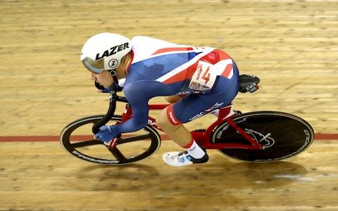 <span>Hayter enjoyed triple medal success at the 2018 European Championships, including winning gold in the omnium</span> <span>Credit: GETTY IMAGES </span>