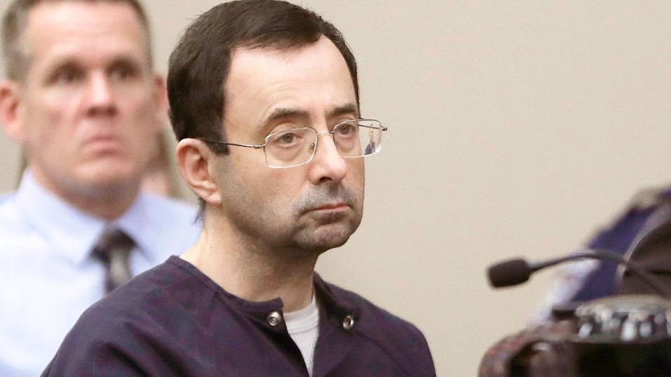 Seen here, disgraced former US Olympic gymnastics doctor Larry Nassar during his sexual assault trial.