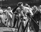 """<p><strong>July 4, 1939</strong>: The New York Yankees honored their terminally ill team captain with Lou Gehrig Day at Yankee Stadium. Between games of an Independence Day doubleheader, speakers showered Gehrig with praise and gifts, and the club retired his No. 4. By the time Gehrig himself was done speaking, there wasn't a dry eye in the house. """"The 'Luckiest Man' speech remains as likely the greatest speech ever given by an athlete,"""" says Puerzer.<br> </p>"""