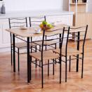 <p>The metal finish on this <span>Costway 5 Piece Dining Table Set </span> ($160) brings a touch of industrial functionality that makes it stand out. One reviewer wrote that they can roll their wheelchair under the table, and we love the inclusive aspect of the design.</p>