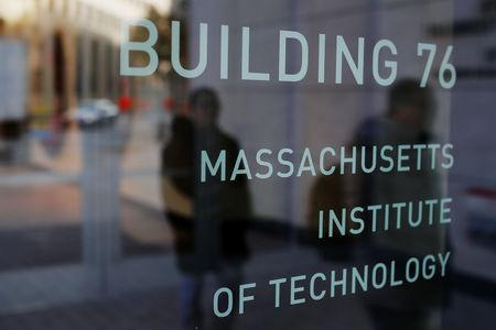 A sign identifies Building 76 at the Massachusetts Institute of Technology (MIT) is seen in Cambridge, Massachusetts, U.S., November 21, 2018. REUTERS/Brian Snyder