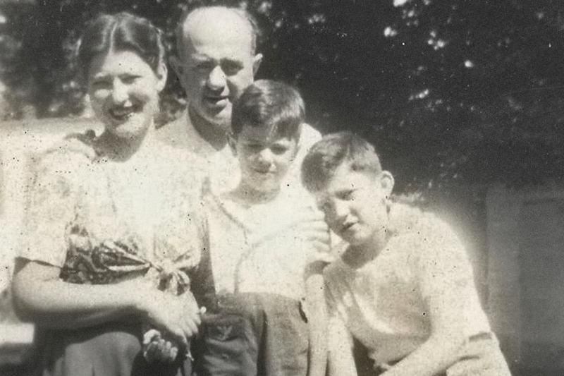 This undated photo provided by the Bernie Sanders campaign in July 2019 shows him as a child, center, with his mother, Dorothy; father, Eli; and brother, Larry. For most of his career, Bernie Sanders has avoided sharing details of his own story, rarely linking policy proposals to his personal experience. But relatives and former classmates who grew up alongside Sanders _ and occasionally now Sanders himself _ say there are clear connections between the candidate's Brooklyn boyhood and his decades of speeches and legislative proposals aimed at leveling the economic playing field. (Bernie Sanders campaign via AP)