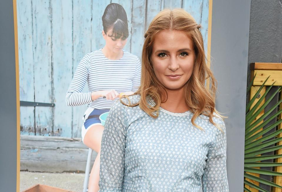 """LONDON, ENGLAND - AUGUST 04: Millie Mackintosh attends the book launch party for """"Gizzi's Healthy Appetite: Food To Nourish The Body And Feed The Soul"""" by chef Gizzi Erskine at Prawnography on August 4, 2015 in London, England. (Photo by David M. Benett/Dave Benett/Getty Images)"""