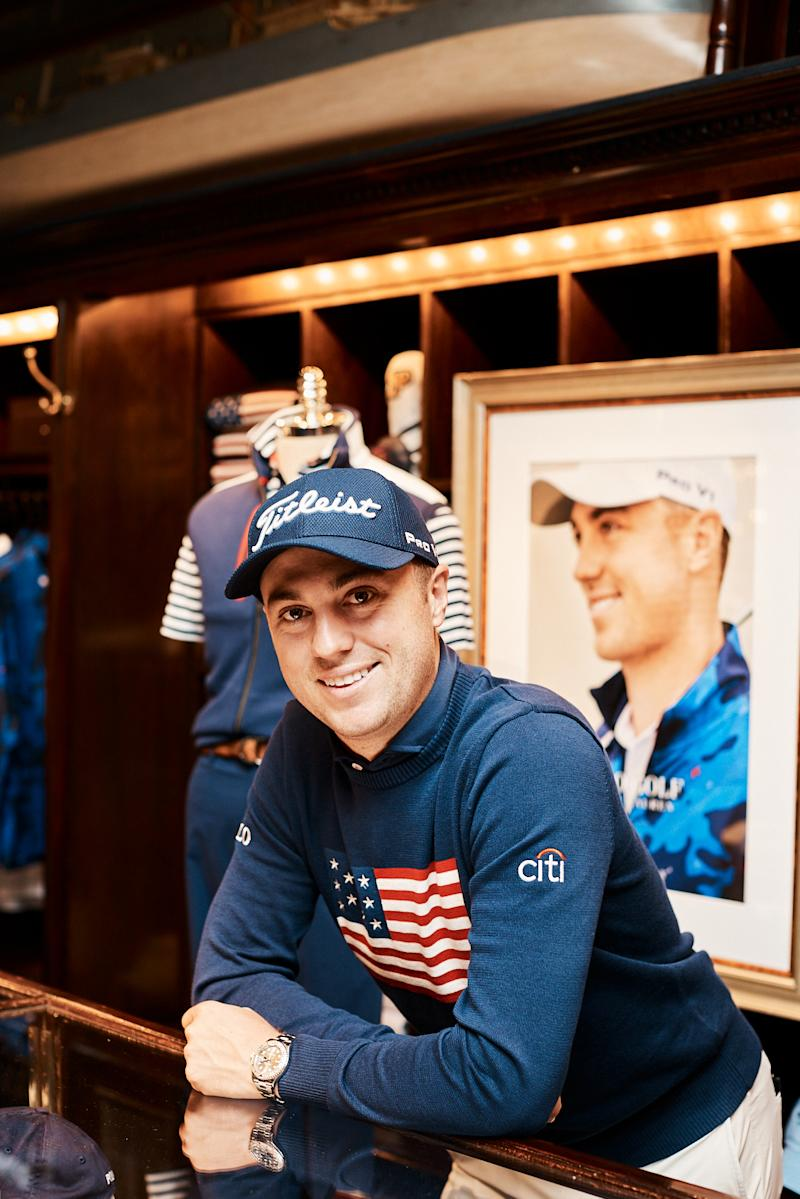 1a7b9f79 Justin Thomas on His Ralph Lauren Capsule, His Injury and Tiger