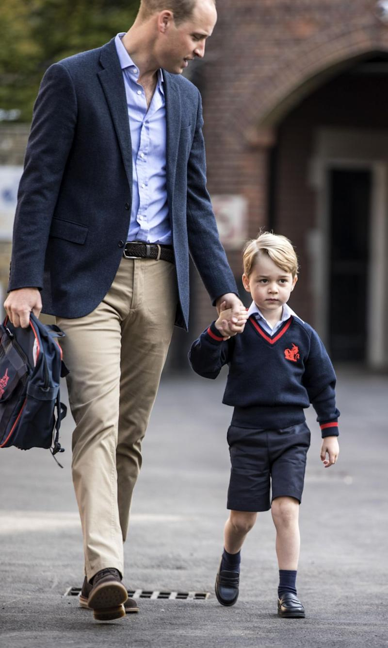 Prince George started at exclusive Thomas's Battersea in September. Photo: Getty