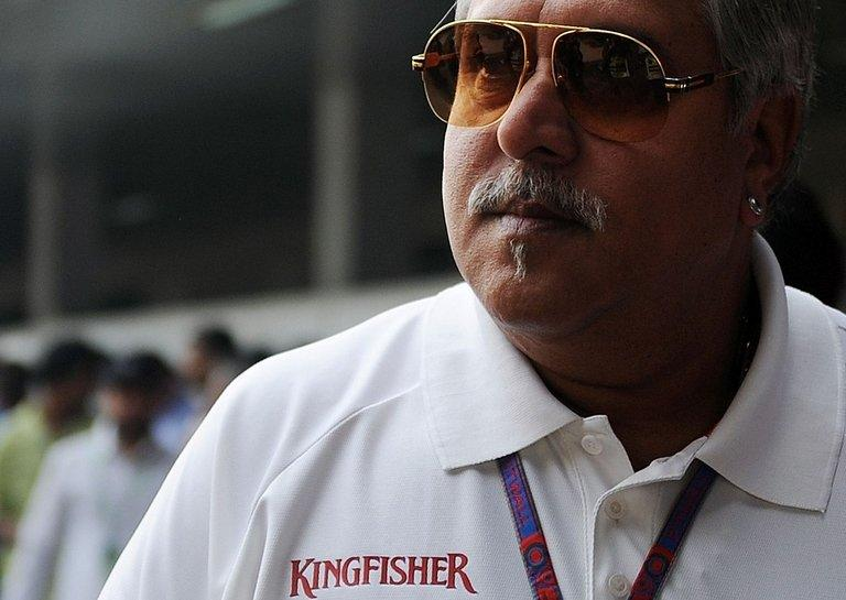 Chairman and CEO of India's Kingfisher Airlines Vijay Mallya is pictured in New Delhi on October 27, 2012