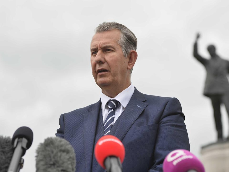 DUP leader Edwin Poots (PA)