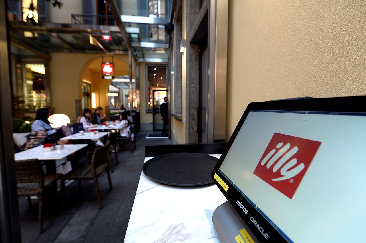 Italian coffee roasting company Illy Caffe's logo is seen on computer screen inside the flagship store in downtown Milan, Italy September 15 2017. Picture taken September 15, 2017. REUTERS/Massimo Pinca