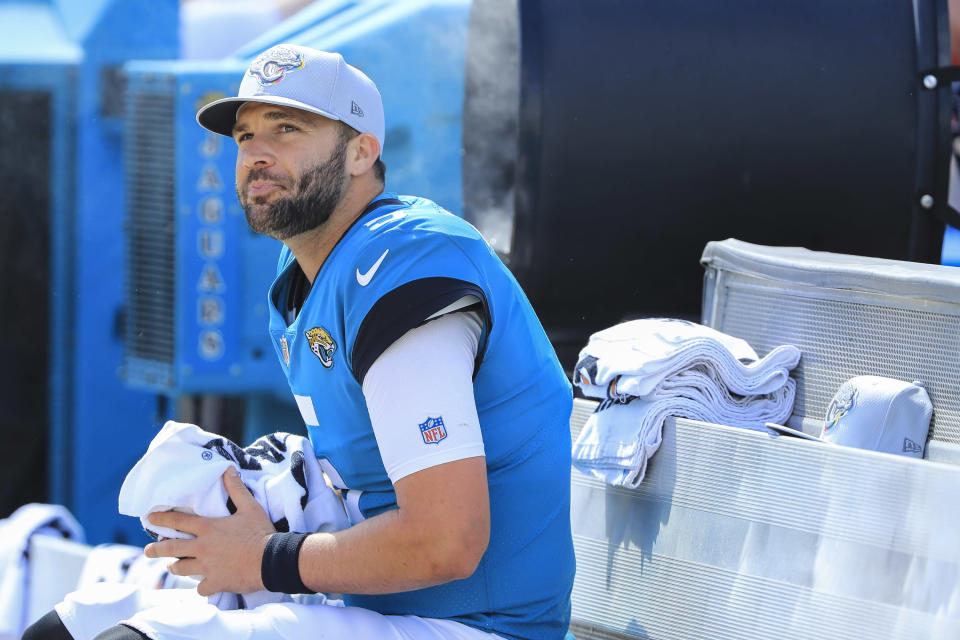 Since beating the Patriots, Blake Bortles has a QB rating of 74.8 and the Jaguars are 1-4. (Getty Images)